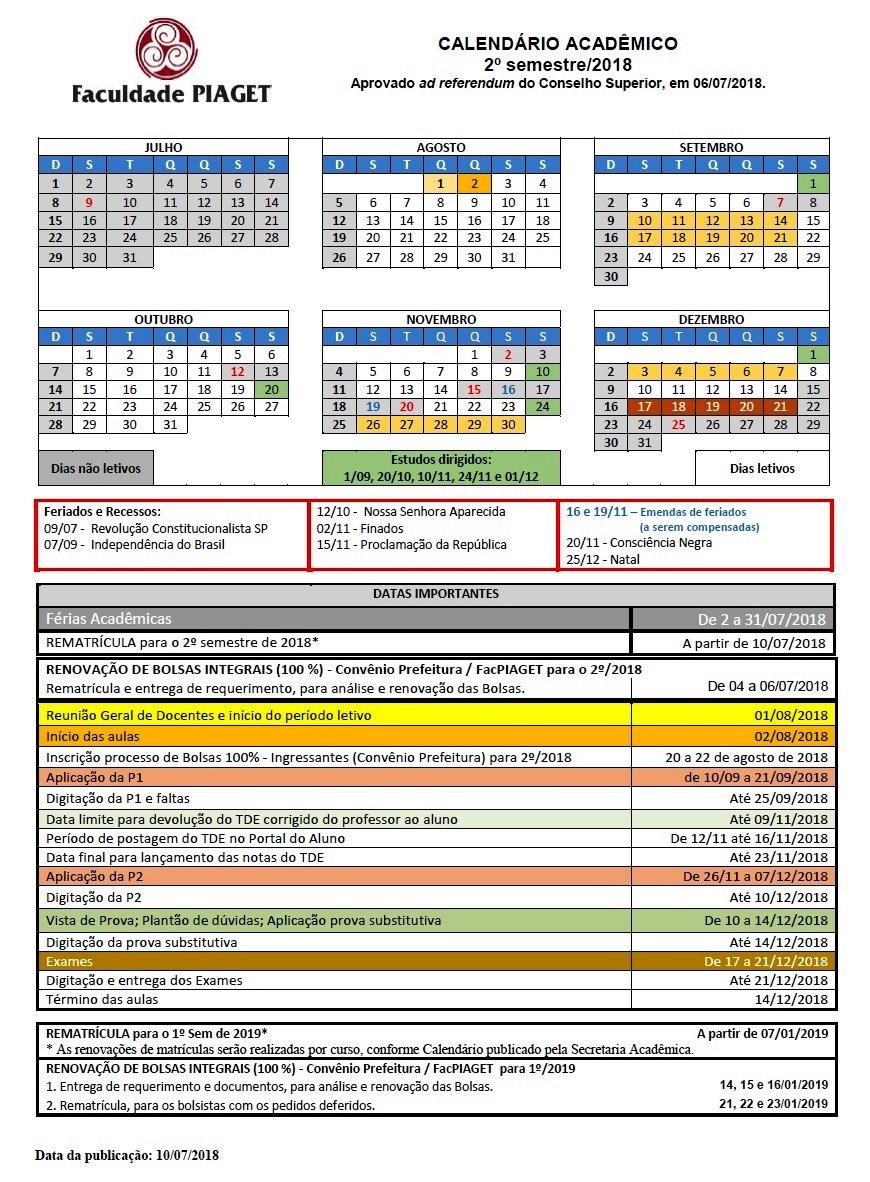 Calendario2Sem2018